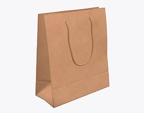 3D Paper bag large with string handle