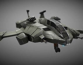 3D asset Sci-fi Futuristic Heavy Assault Fighter