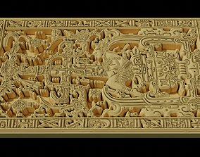 Pakal tomb stone lid aka The Mayan 3D print model