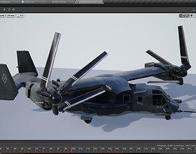 V22 Osprey Tiltrotor Helicopter 3D asset