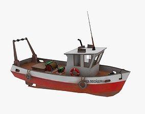3D model Old Fishing Boat Murena
