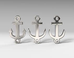 Anchor bracelet 3D printable model 3D asset