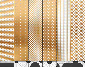 3D asset Perforated panels set