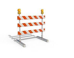 3D asset Construction Barrier 01