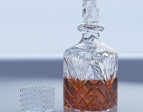 3D Crystal Decanter and Glass