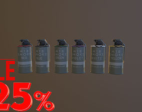 Grenade Six Flowers M18 Smoke Grenade USA PBR VR 3D
