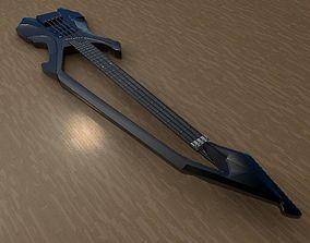 3D Prince C model Bass guitar