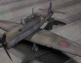 3D model Blackburn B-24 Skua Mk-2