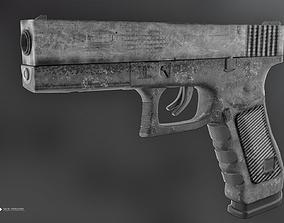 Glock 17 poly 3D model
