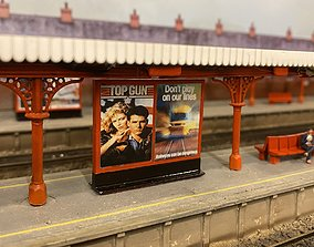 Model Railway Station Poster Boards