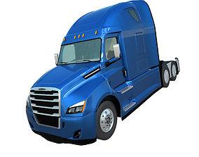 3D model Freightliner Cascadia 2017 US semi trailer