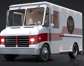 3D Delivery Truck Rigged C4D