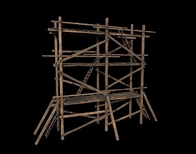 3D model Wooden Gothic Scaffold
