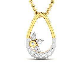 gold pendants Women pendant 3dm render detail