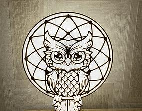 3D printable model Owl Lamp