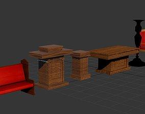 3D model church furniture