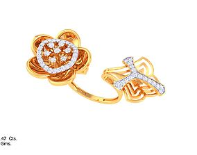 3D printable model ring diamond DL-58