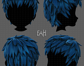 3D Hair style for boy V74 realtime