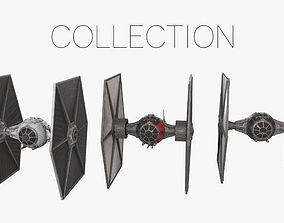 TIE Fighters Collection 3D PBR