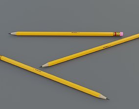 3D model game-ready PBR Pencil