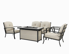 3D model Pavilion Conversation 5 Piece Seating Group with