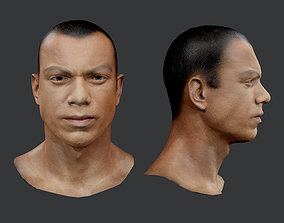 Male Human Character Head Game Ready 01 3D asset