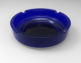 Ashtray blue 3D model