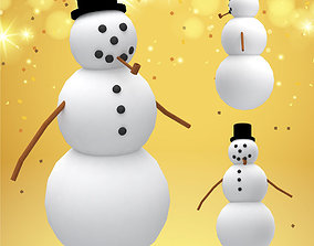 3D asset Snowman decoration for holiday season