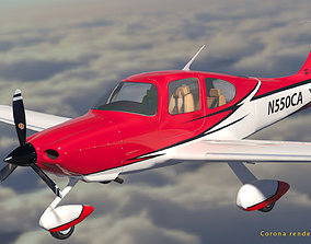 realtime Cirrus SR 22 high detailed model low poly