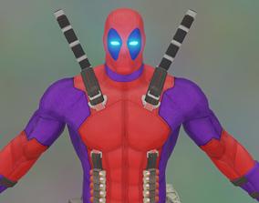 3D asset animated VR / AR ready DeadPool Rigged