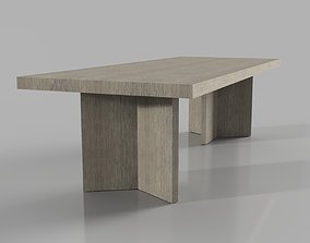 RH Ludlow Rectangular dining table 3D interior