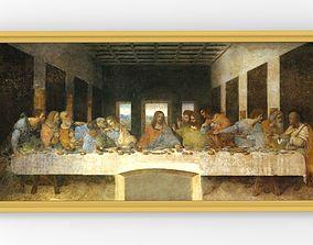 The Last Supper painting by Leonardo da Vinci for 3D