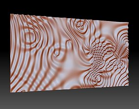 Flow 6372 wavy 3D relief for CNC milling