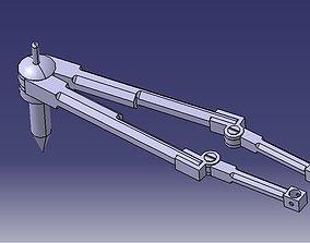 Multi utility pocket compass 3D model