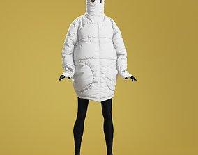 SONDR Winter Coat Loose Close 3D