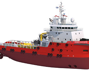 3D 70 m AHTS Anchor Handling Tug Supply