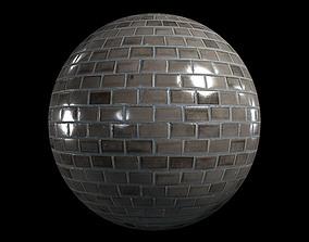 3D model Beige glazed wall tiles
