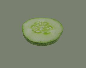 3D asset Cucumber Slice