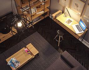 3D cabinet Modern Furniture Set
