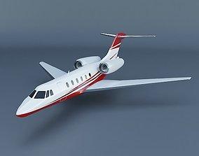 3D model Cessna Citation X 200 private jet