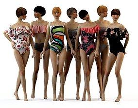 Swimwear 2018 Bikini Girls woman 3D model
