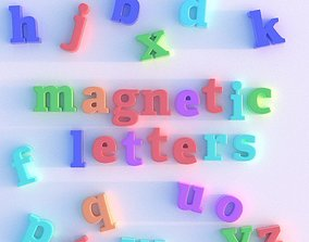 3D model other Magnetic Letters