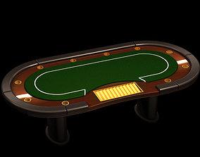 3D model Poker casino table
