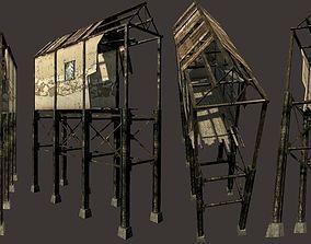 3D asset Harbourside Industrial Shack