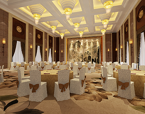 3D Hotel Conference Room Banquet Hall