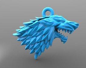 3D print model Game of thrones Stark keychain