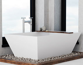 Bath wite pebble fundamen 3D model