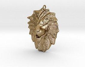 3D print model Lion Head Pendant