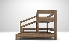 bunk bed 3D model realtime