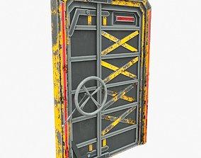3D model Sci-Fi door 1